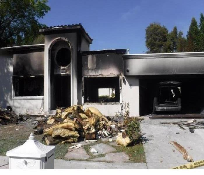 Burned Down Home in Simi Valley, CA Before